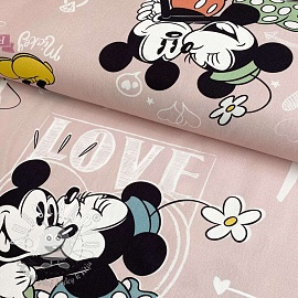 Dekoračná látka Mickey Mouse I love you digital print