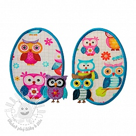 Sticker BASIC Owls 2 ks PATCH