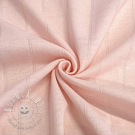Úplet bavlna INTERLOCK Stripe light pink