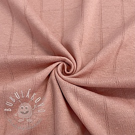 Úplet bavlna INTERLOCK Stripe old rose